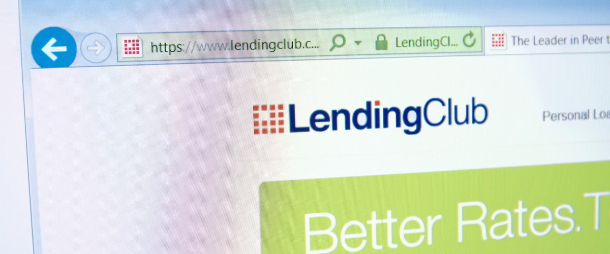 Lending Club website home page