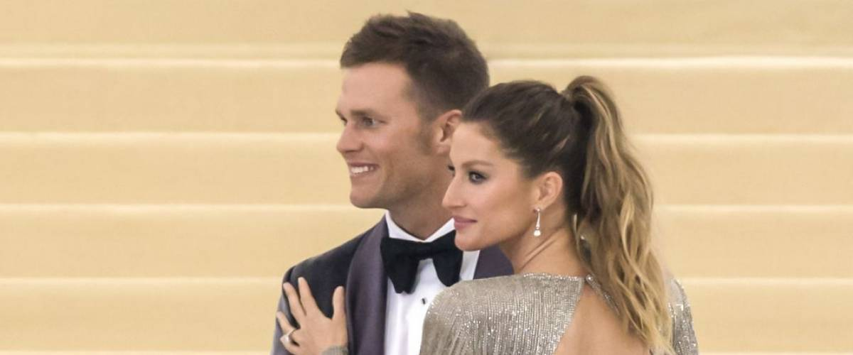 NEW YORK, NY - MAY 01, 2017: Tom Brady and Gisele Bundchen attend the 'Rei Kawakubo/Comme des Garcons: Art Of The In-Between' Costume Institute Gala at Metropolitan Museum of Art