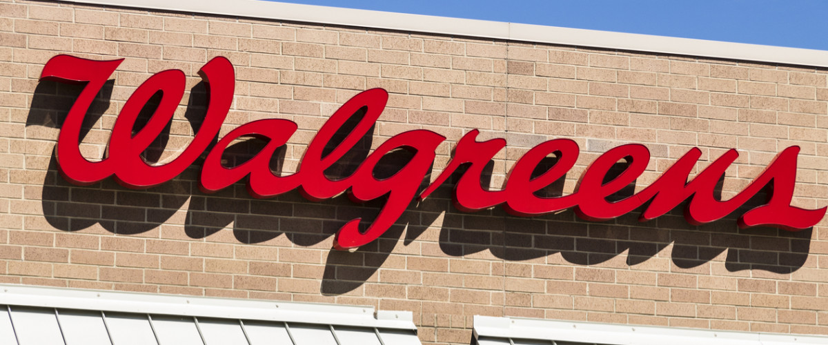 Walgreens storefront sign