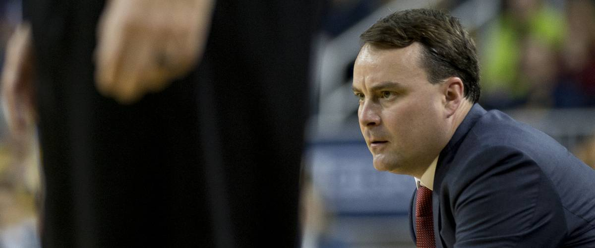 Indiana Hoosiers basketball coach Archie Miller, Michigan vs. Indiana game on 12-02-17