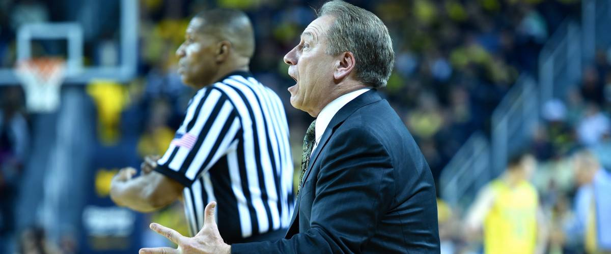 Michigan State basketball coach Tom Izzo, Michigan vs. Michigan State game, 02-17-15