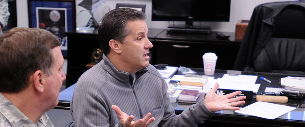 University of Kentucky men's basketball coach John Calipari, Jan. 8, 2013