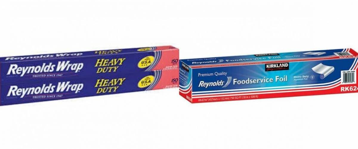 Reynolds Wrap and Kirkland Signature Reynolds Foodservice Foil