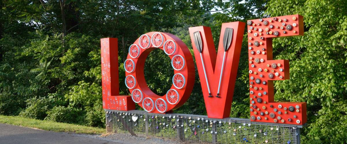 The love sign in Lynchburg, Virginia.