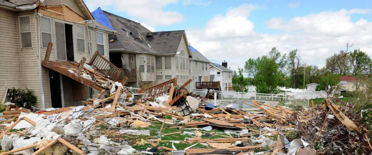 SAINT LOUIS, MISSOURI - APRIL 22: Debris from destroyed homes and property is strewn across areas of St. Louis, Missouri after tornadoes hit the Saint Louis area on Friday, April 22, 2011.
