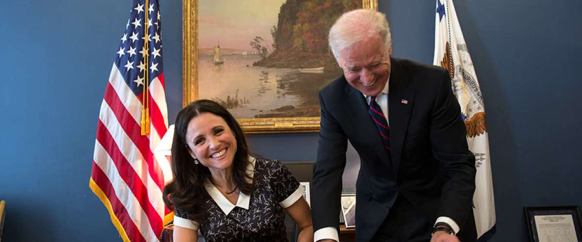 Julia Louis-Dreyfus plays Selina Meyer on Veep