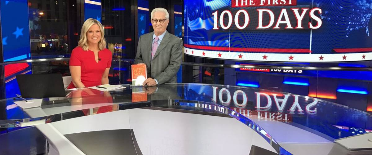 David Green appears with Fox News anchor Martha McCallum to promote his book
