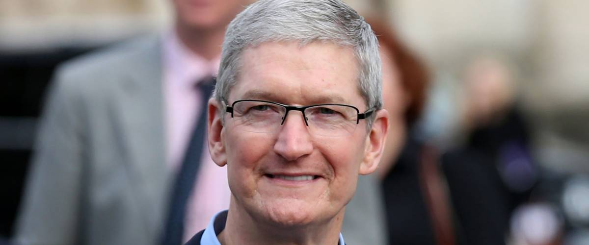 DUBLIN, IRELAND - 11/11/2015Apple CEO, Tim Cook, arrives for a Q&A with members of the Trinity College Dublin Philosophical Society and receive the Gold Medal of Honorary Patronage
