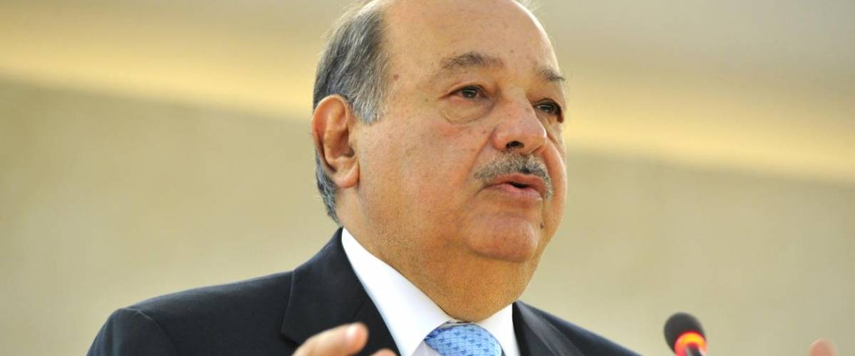 Carlos Slim Helú, President of the Carlos Slim Foundation, addresses during the Geneva Lectures Series, Palais des Nations. Monday 11 June 2012.