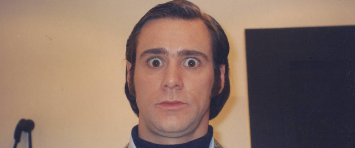 Jim Carrey as Andy Kaufman, production still from