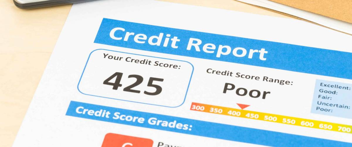 Poor credit score report sheet