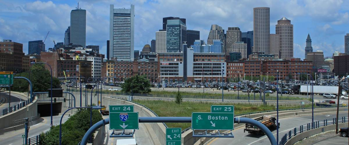 Skyline Boston Highway view
