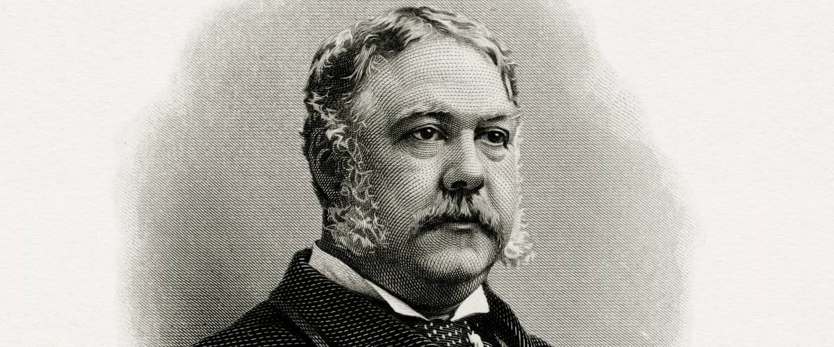 President Chester Arthur. The Bureau of Engraving and Printing.