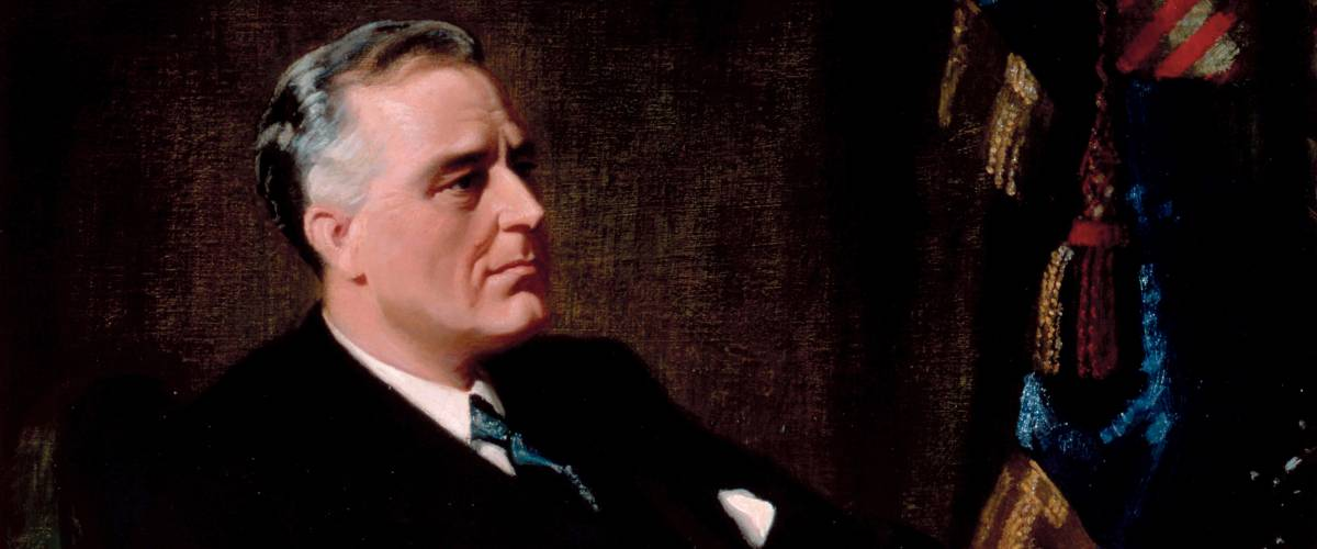 Official presidential portrait of Franklin Roosevelt. Frank O. Salisbury / White House