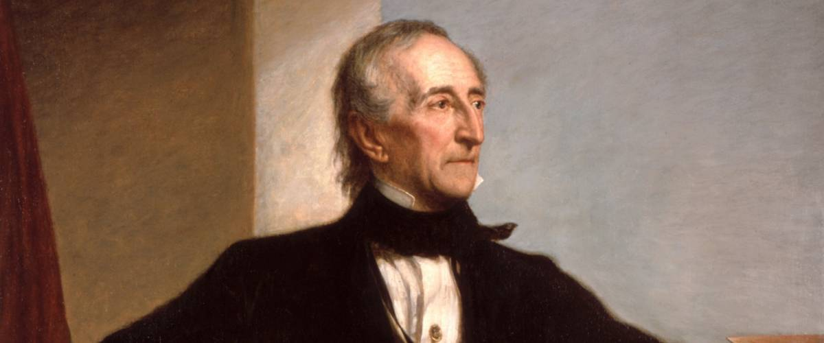 President John Tyler official presidential portrait by George Peter Alexander Healy