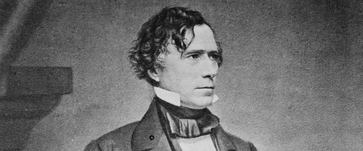 President Franklin Pierce official presidential portrait by Matthew Brady