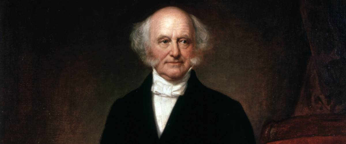 Official Presidential portrait of Martin Van Buren by George Peter Alexander Healy