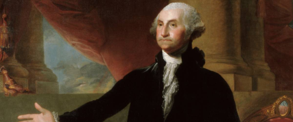 Official Presidential portrait of George Washington by Gilbert Stuart