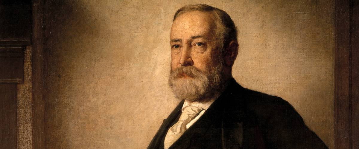 Official presidential portrait of Benjamin Harrison by Eastman Johnson