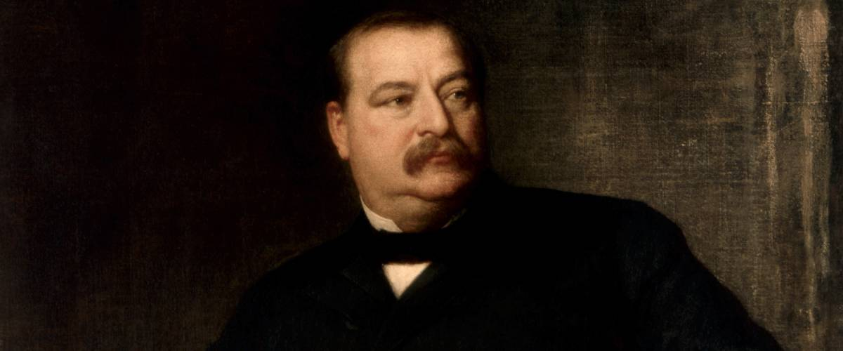 Official presidential portrait of Grover Cleveland by Eastman Johnson