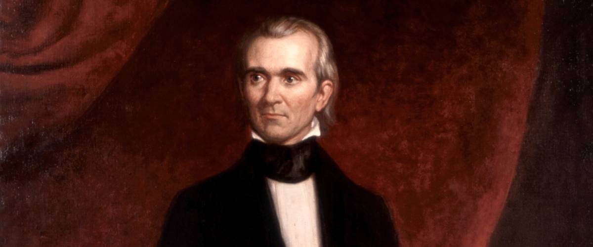 Official presidential portrait of James K. Polk by George Peter Alexander Healy