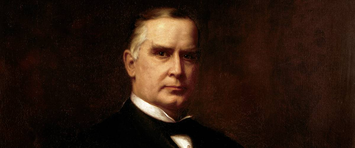 Official presidential portrait of William McKinley by August Benziger.