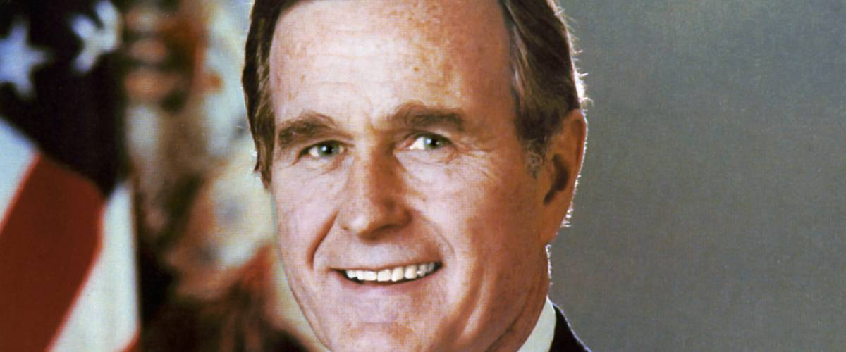 George H.W. Bush official vice presidential portrait, Library of Congress