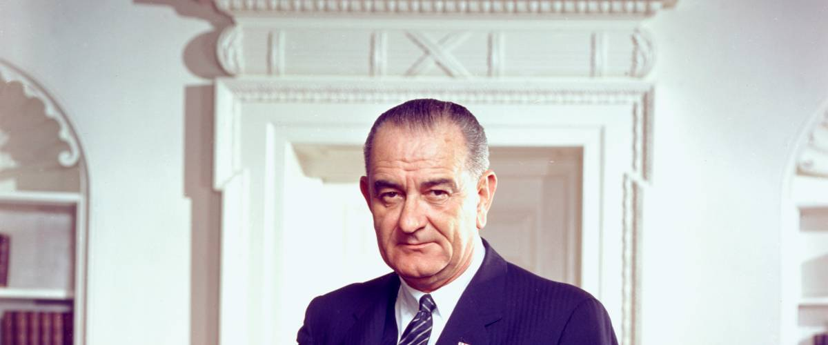 Official presidential portrait of Lyndon Johnson by Arnold Newman, White House Press Office