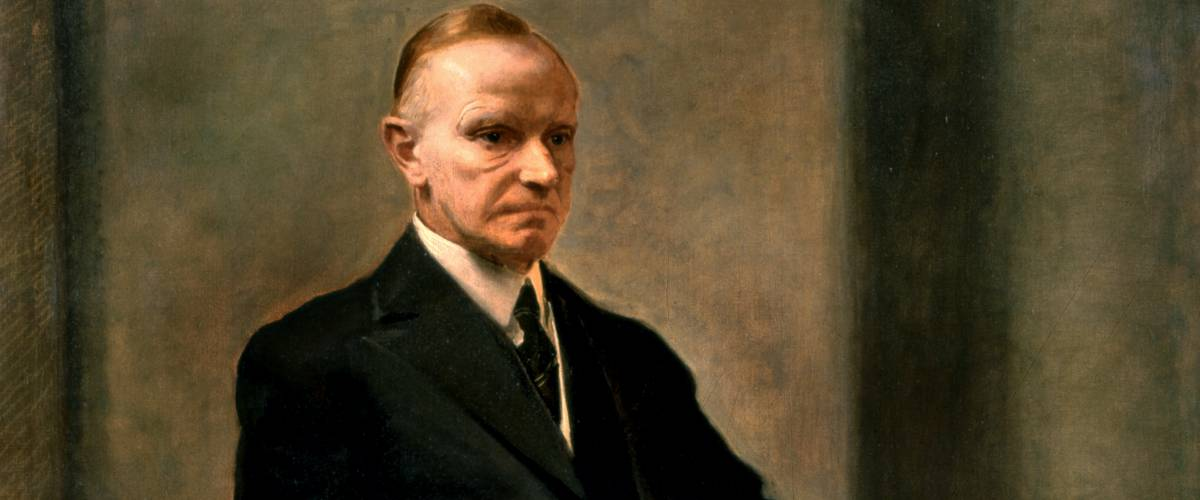 Official Presidential portrait of Calvin Coolidge by Charles Sydney Hopkinson