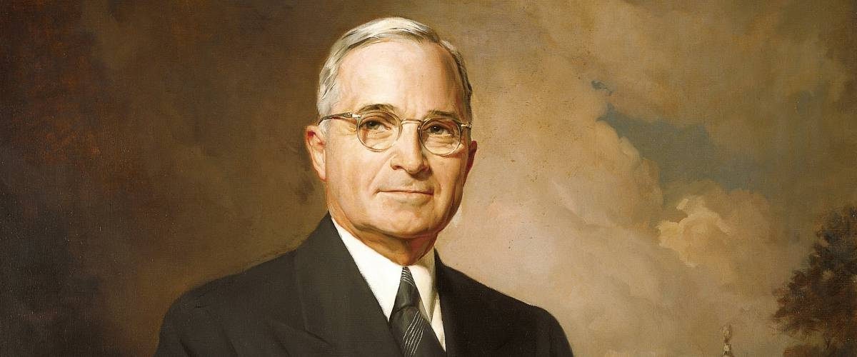 Presidential portrait of Harry Truman. Official Presidential Portrait painted by Greta Kempton