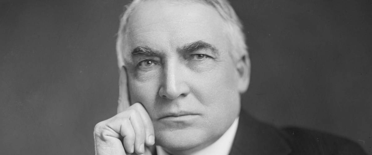 Warren G. Harding, by Harris & Ewing. Date: circa 1920
