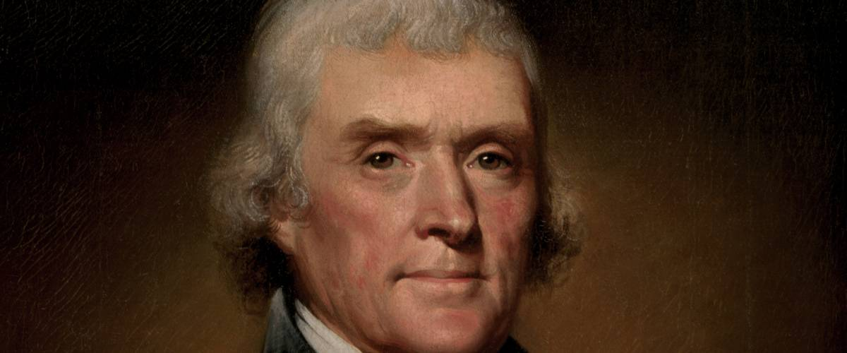 President Thomas Jefferson. Official presidential portrait by Rembrandt Peale