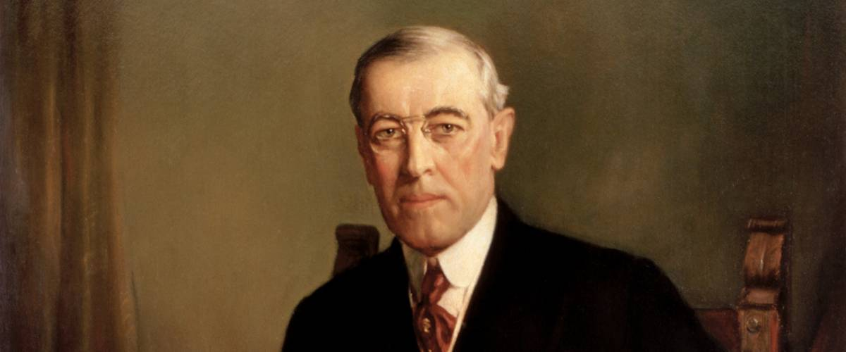 President Woodrow Wilson. Frank Graham Cootes / Official presidential portrait