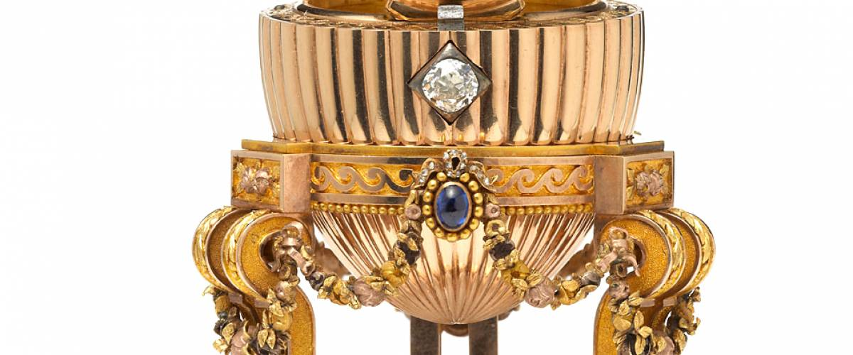 The 'Third Imperial' Faberge egg that turned up at a flea market.