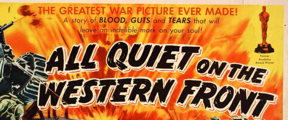 Part of a poster from the 1930 movie All Quiet on the Western Front