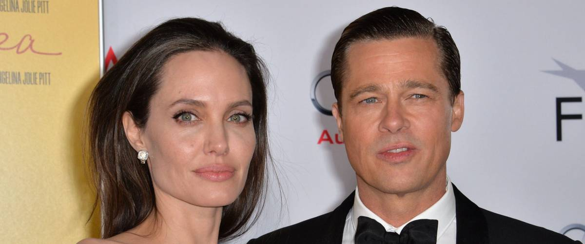 LOS ANGELES, CA - NOVEMBER 5, 2015: Actress/writer/director Angelina Jolie & actor husband Brad Pitt at the AFI Festival premiere of their movie