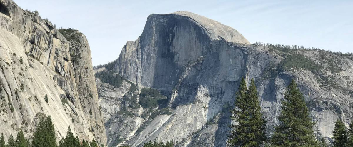 Yosemite National Park view of Half Dome from the Valley