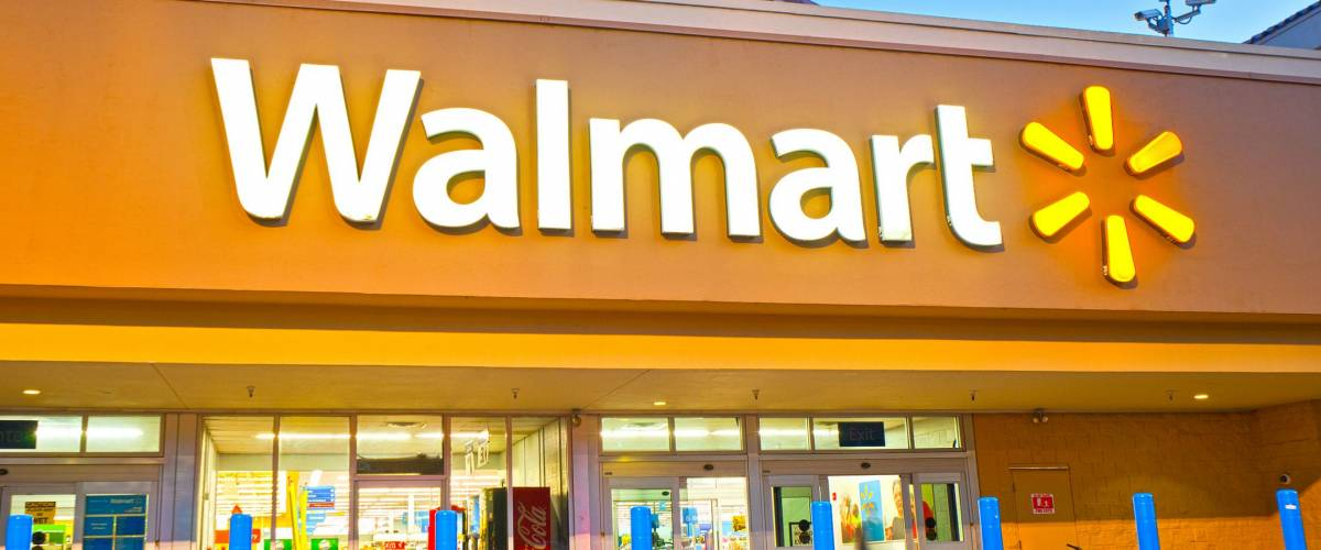 HALLANDALE BEACH, FLORIDA, USA-October 15, 2015: Walmart 24 hour supercenter in Hallandale Beach Florida. Walmart is the largest retailer in the USA Based in Arkansas