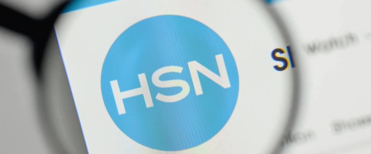 Milan, Italy - November 1, 2017: HSN logo on the website homepage.