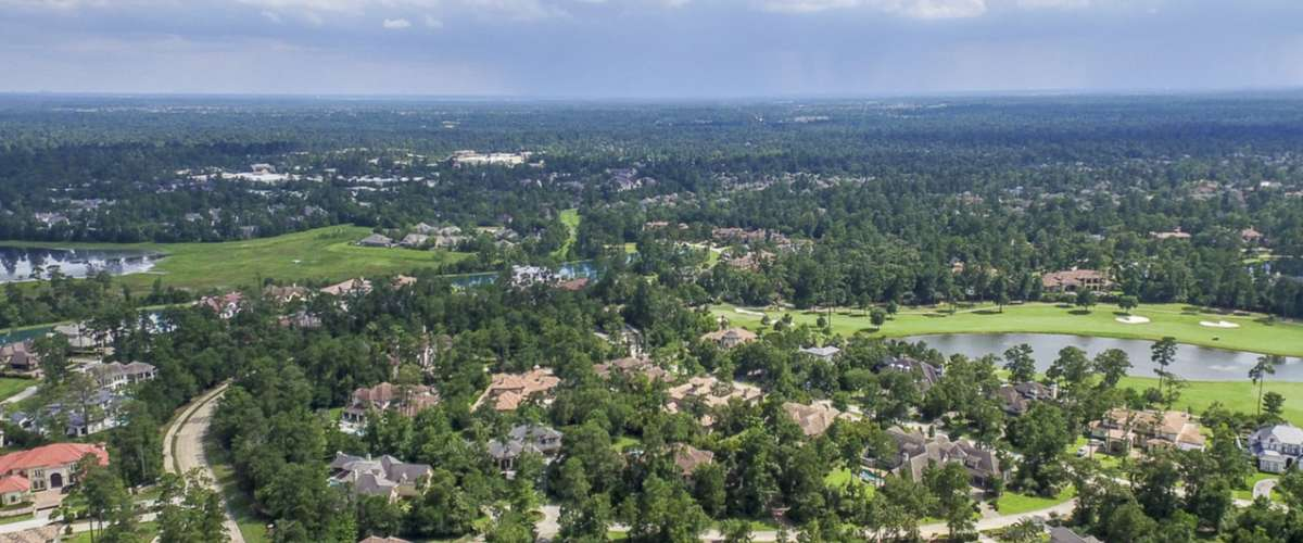 Aerial view of The Woodlands, Texas