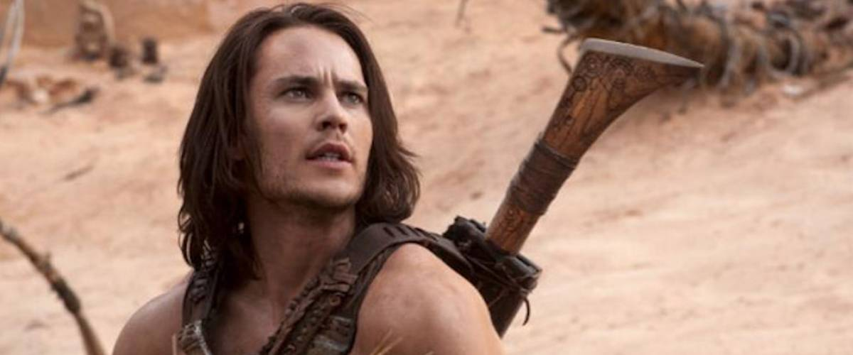 The glorious Taylor Kitsch in a scene from John Carter (2012)