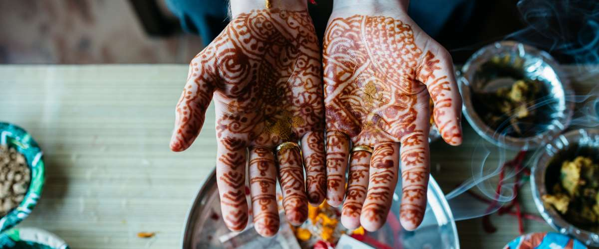Groom hands in India