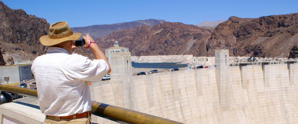 Senior watching Hoover Dam