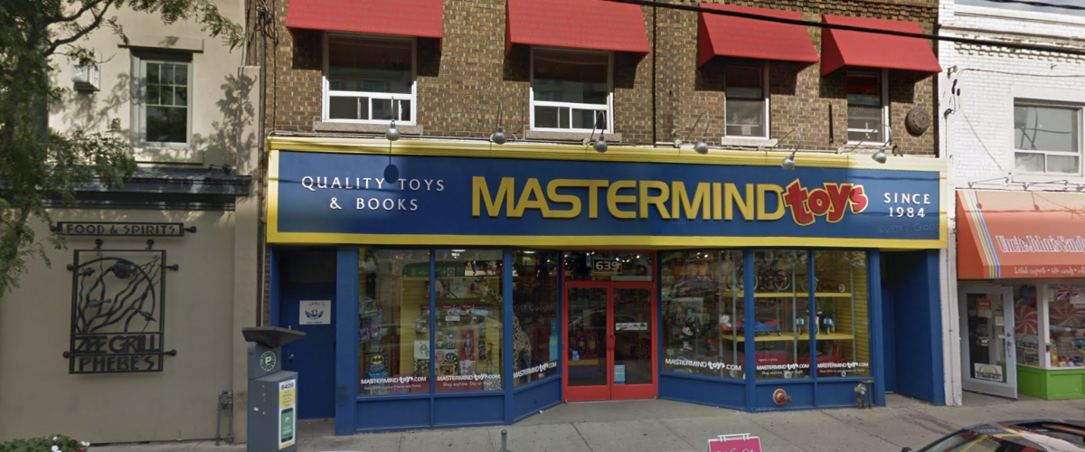 Mastermind Toys on Mt. Pleasant Road in Toronto, Ontario, Canada.