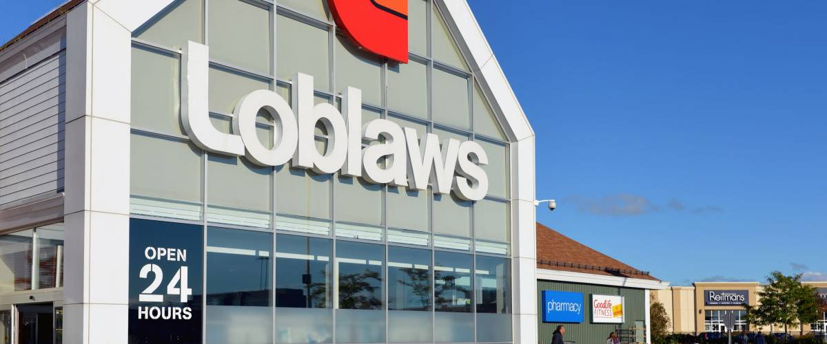 Ottawa, Canada - September 14, 2014:  Loblaws at College Square on Woodroffe Ave.  Loblaws is a grocery supermarket chain from Ontario with over 2000 stores in Canada.