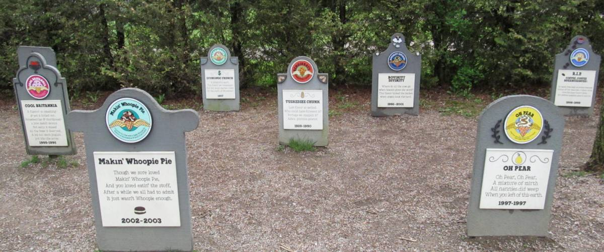 The Ben & Jerry's Flavor Graveyard in Vermont