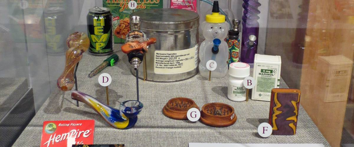 The DEA Museum in Arlington, Museum, features exhibits of drug paraphernalia.
