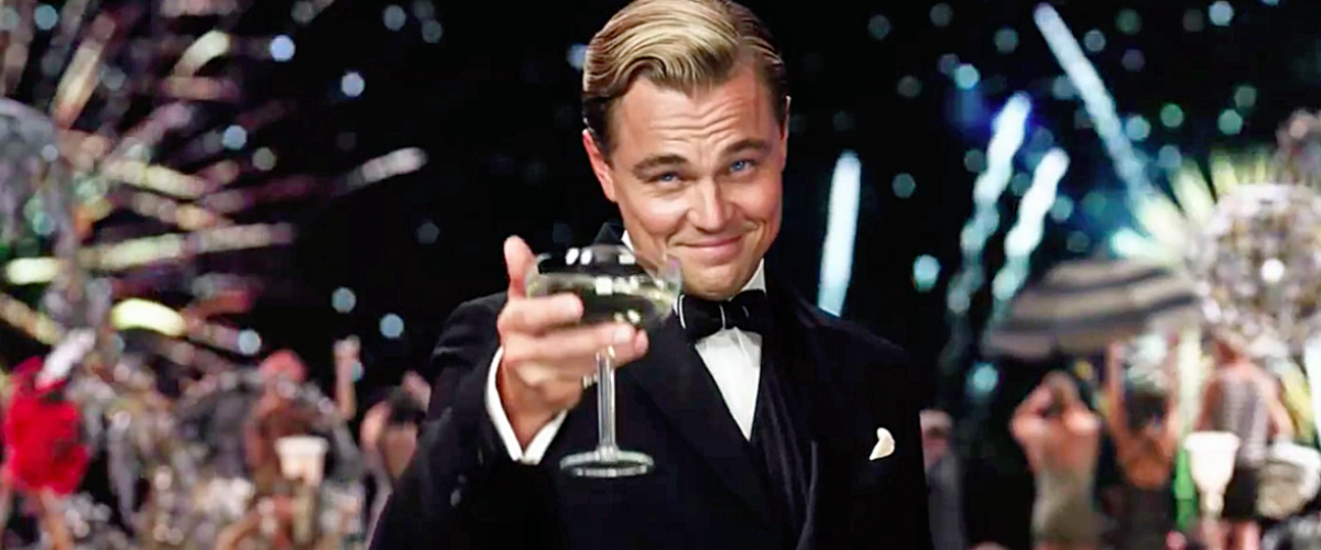 Leonard DiCaprio is Gatsby in The Great Gatsby