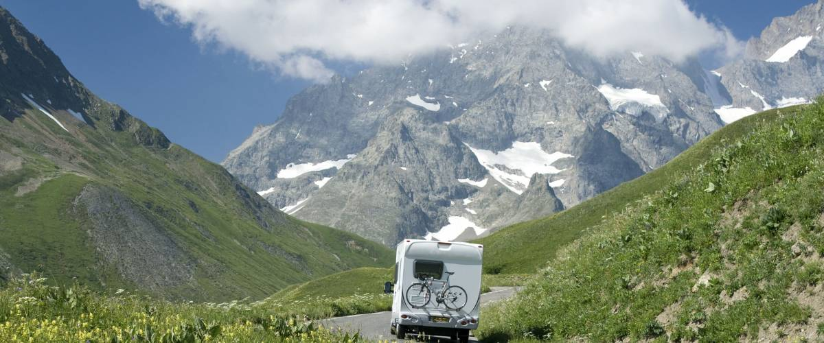 Motorhome in the French alps