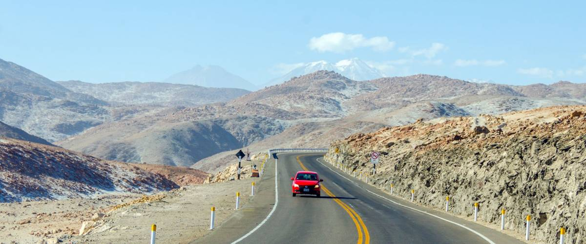 Peru - road from Pan-American Highway to Arequipa